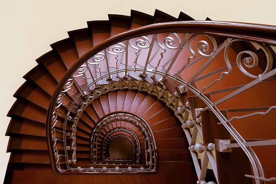 L'escalier pour les combles